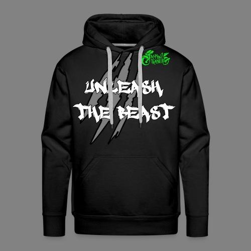 Sweat Noir - Vert - Sweat-shirt à capuche Premium pour hommes