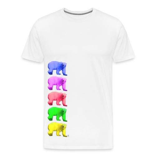 Color Ice Bear - Herren Premium T-Shirt - Männer Premium T-Shirt