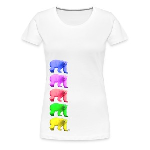 Color Ice Bear - Damen Premium T-Shirt - Frauen Premium T-Shirt