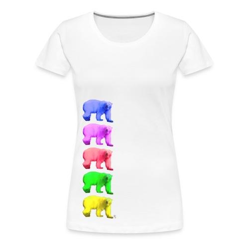 Color Ice Bear - Damen Premium T-Shirt - Frauen Premium T-Shirt