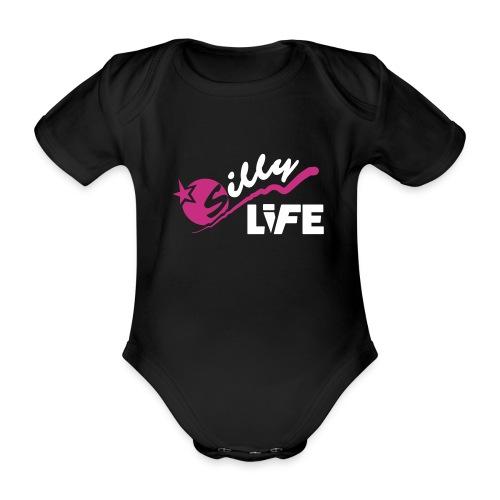 Romper baby donker - Baby bio-rompertje met korte mouwen