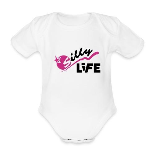 Romper baby licht - Baby bio-rompertje met korte mouwen