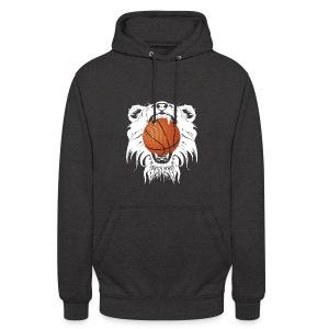 Sweat à capuche logo blanc Recto tête Lion Verso Logo  - Sweat-shirt à capuche unisexe