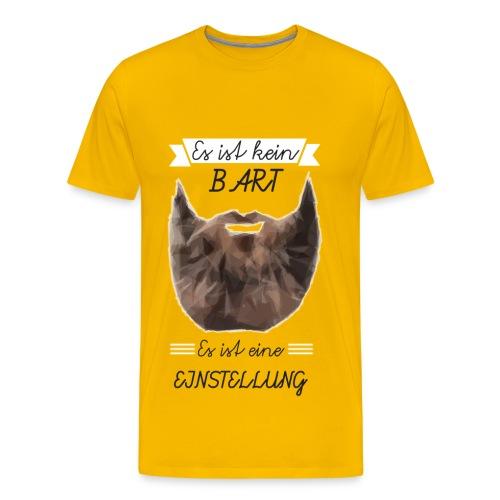 Bart Einstellung - Herren Premium T-Shirt - Männer Premium T-Shirt