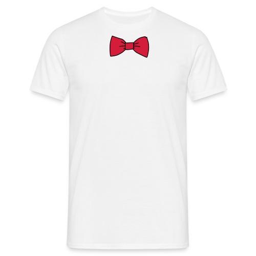 Bowtie hvit/rød - T-skjorte for menn