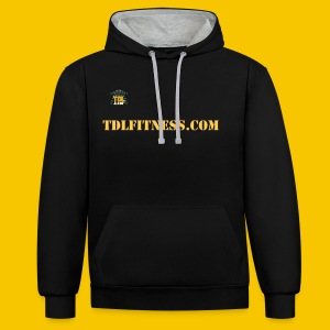 The Official TDL Fitness Unisex Hoodie - Contrast Colour Hoodie