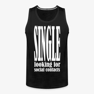 SINGLE looking for social contacts Tank Top - Männer Premium Tank Top