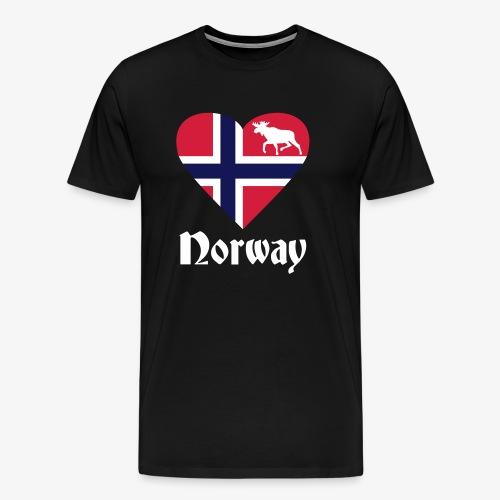 Norwegen Elch Herz T-Shirts - Männer Premium T-Shirt