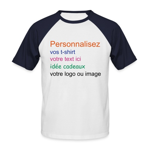 Perso - T-shirt baseball manches courtes Homme