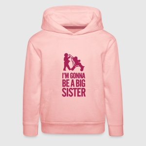 I'm gonna be a big sister baby car Gensere - Premium Barne-hettegenser