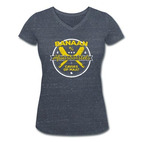 BANAAN BV vrouwen v-hals bio - Vrouwen bio T-shirt met V-hals van Stanley & Stella