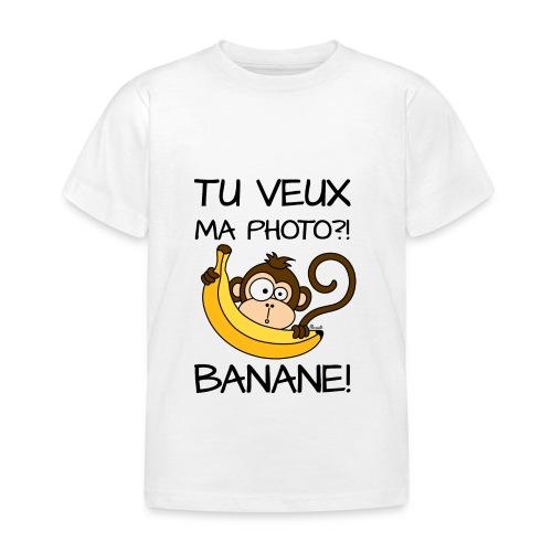 T-shirt BC Enfant Singe, Tu veux ma photo?! Banane! - T-shirt Enfant