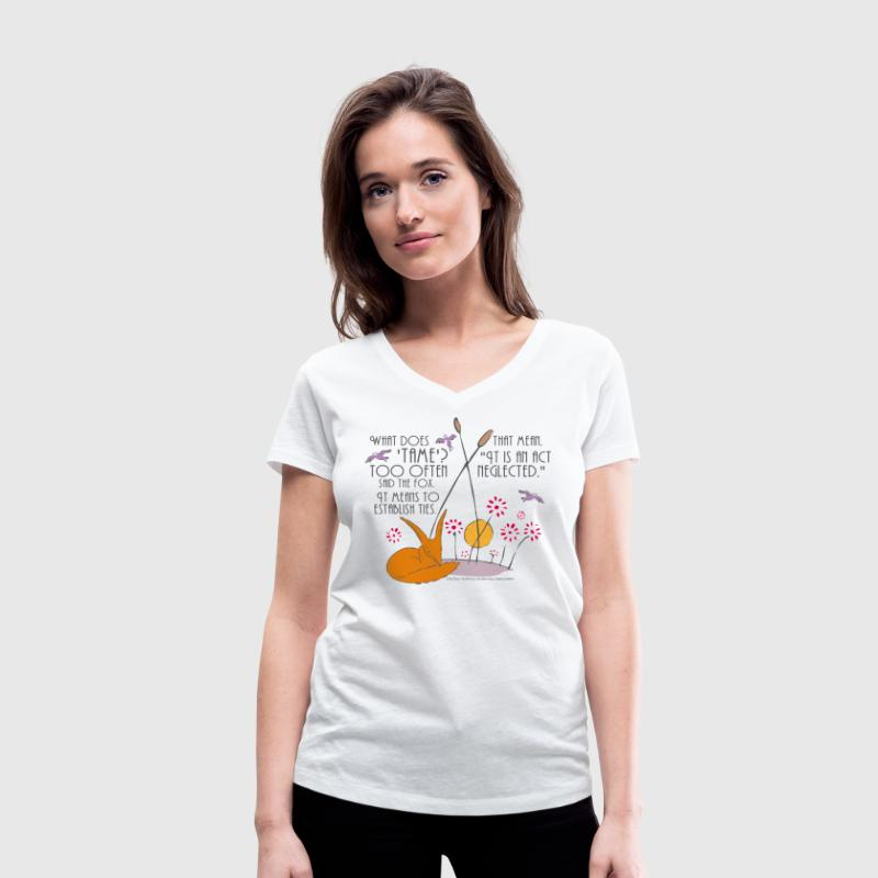 The Little Prince Friendship Taming The Fox - Women's V-Neck T-Shirt