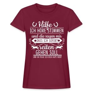 Höre Stimmen -- reiten gehen - Frauen Oversize T-Shirt