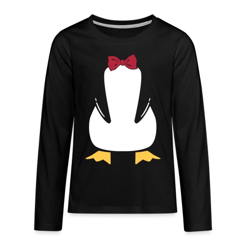 Penguin Bow - Teenager Premium shirt met lange mouwen