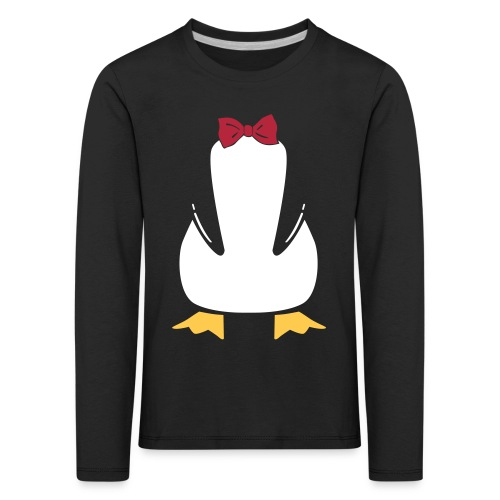 Penguin Bow - Kinderen Premium shirt met lange mouwen