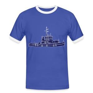 Schlepper Schleppschiff 2 - Männer Kontrast-T-Shirt