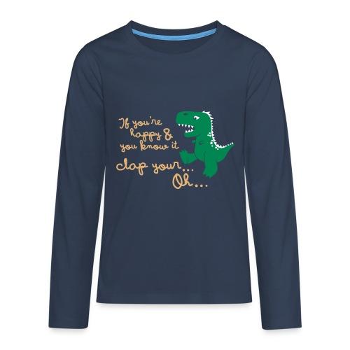 Dino Problem - Teenager Premium shirt met lange mouwen