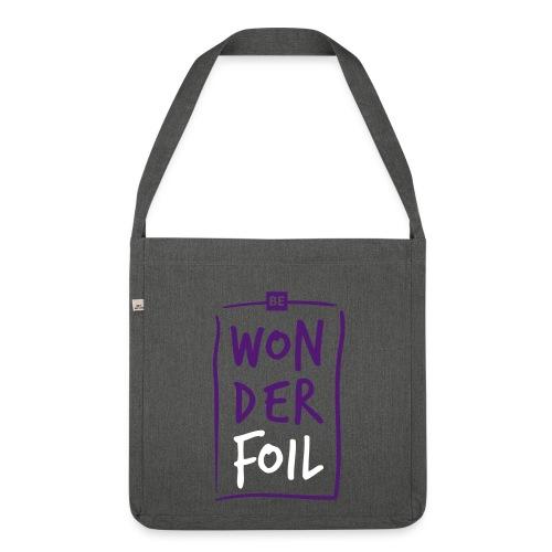 Be wonderfoil Block Tasche - Schultertasche aus Recycling-Material