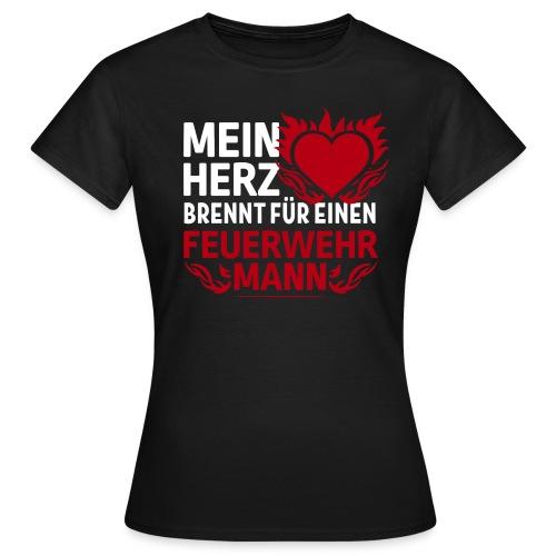 Mein Herz brennt | Tasse - Frauen T-Shirt