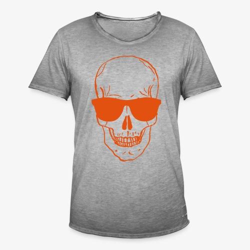 Skull Vintage Orange - Männer Vintage T-Shirt
