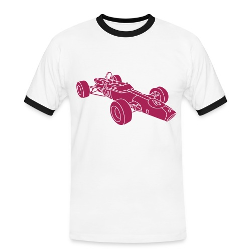 Rennwagen 2 - Männer Kontrast-T-Shirt