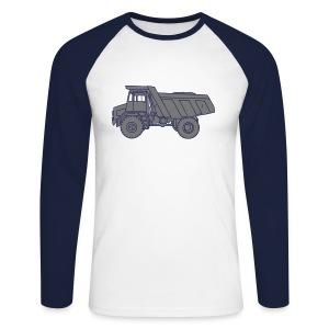 Muldenkipper Kipplaster 2 - Männer Baseballshirt langarm