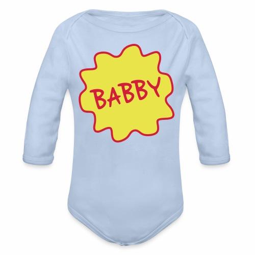 Babby, Manchester Dialect Baby Babygrow - Organic Longsleeve Baby Bodysuit