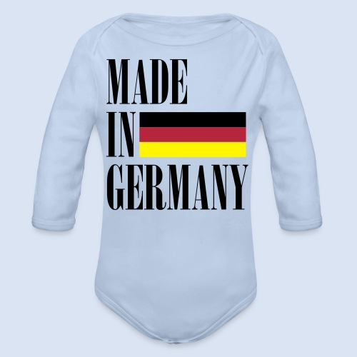 MADE IN GERMANY - Deutschland - Baby Bio-Langarm-Body