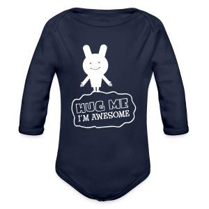 Hug me - Baby bio-rompertje met lange mouwen