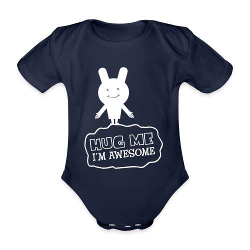 Hug me - Baby bio-rompertje met korte mouwen