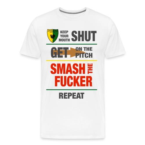 Smash Grey - Miesten premium t-paita