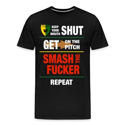 Smash White - Miesten premium t-paita