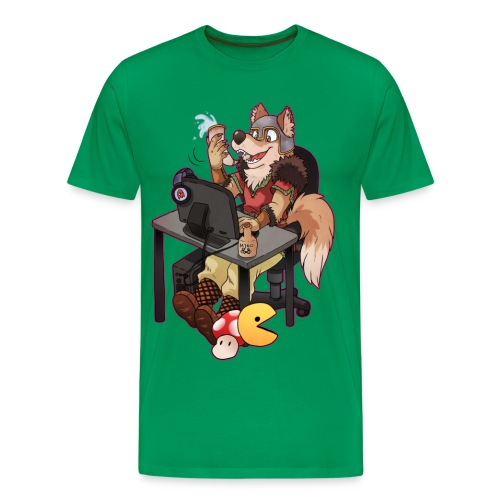 Cartoon Viking Wolf - Men's Premium T-Shirt