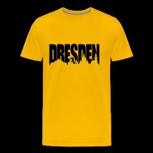 Dresden Skylineschatten Shirt - Männer Premium T-Shirt