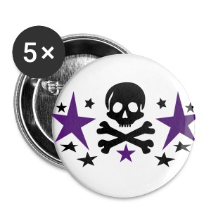 skull star - Spilla grande 56 mm