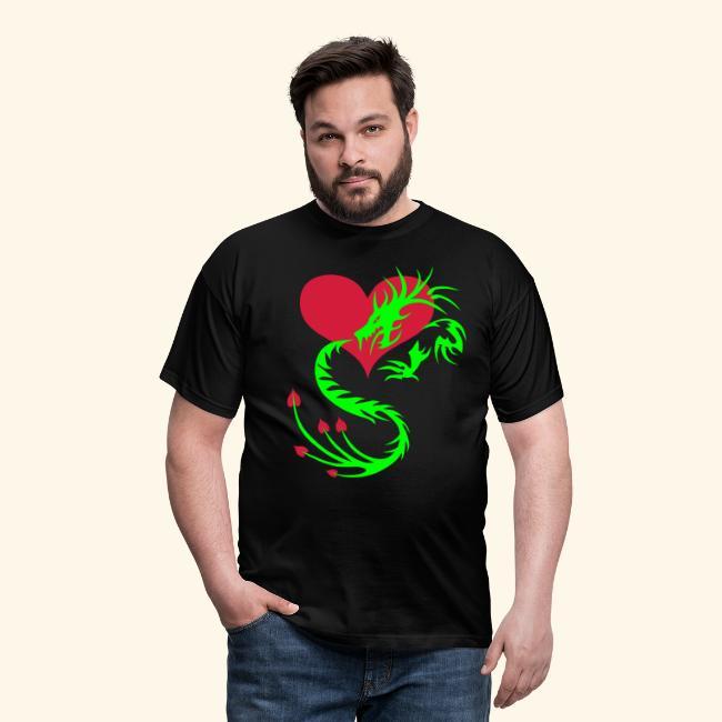 Online bestellen suche nach echtem neuer & gebrauchter designer Drache im Herzen Dragon Heart Tattoo T-Shirt   T-shirt herr