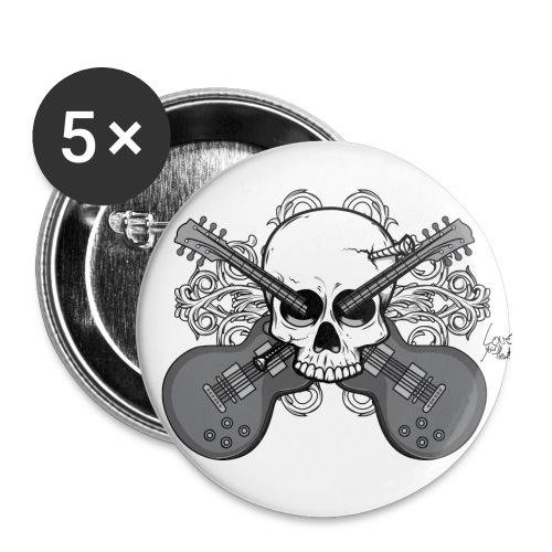 Guitar Skull - Spilla grande 56 mm