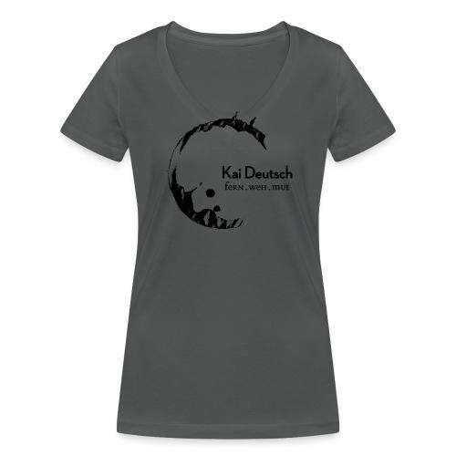 Kai Deutsch Damen - Frauen Bio-T-Shirt mit V-Ausschnitt von Stanley & Stella