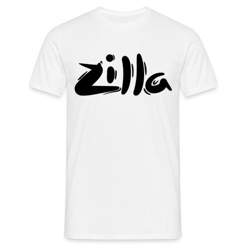 White 'Zilla' T-Shirt  - Men's T-Shirt