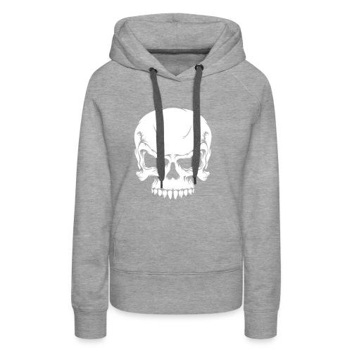 Skull, Hood (white) - Women's Premium Hoodie