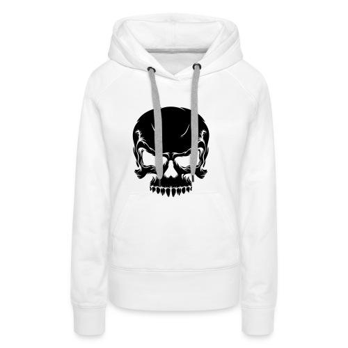 Skull, Hood (black) - Women's Premium Hoodie