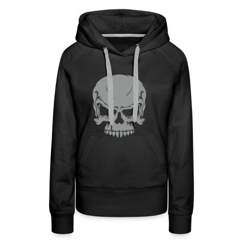 Skull, Hood (silver) - Women's Premium Hoodie