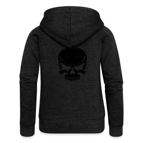Skull, ZippHood (black) - Women's Premium Hooded Jacket