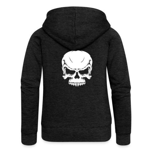 Skull, ZippHood (white) - Women's Premium Hooded Jacket