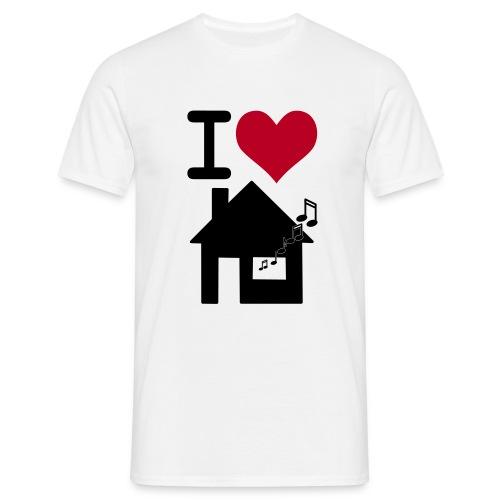 I love house-music - Men's T-Shirt