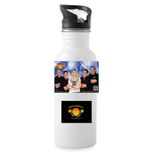 Trinkflasche mit Bandlogo und Bandfoto - Trinkflasche