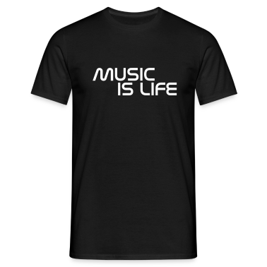 Black music is life without heart EN Men's T-Shirts