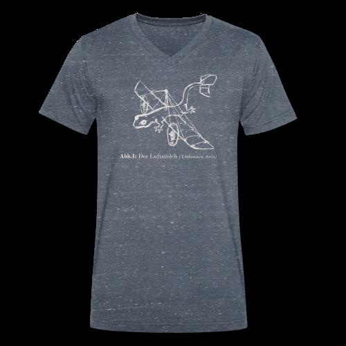 Der Luftmolch (Leiberl in Stahlgrau) - Männer Bio-T-Shirt mit V-Ausschnitt von Stanley & Stella