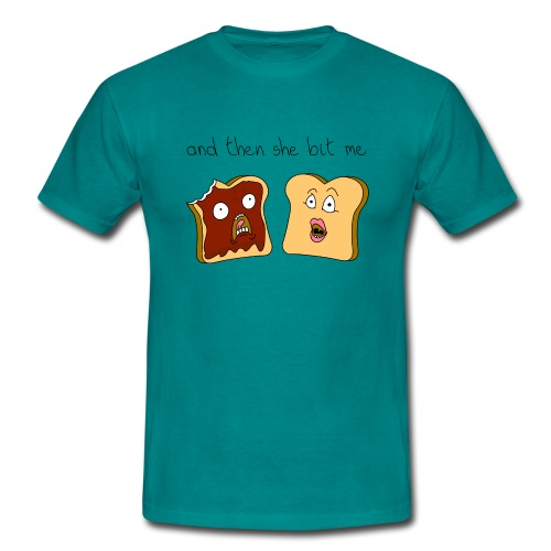And then she bit me - Men's T-Shirt